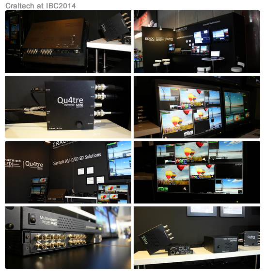 IBC 2014 Craltech Modualr Multiviewers