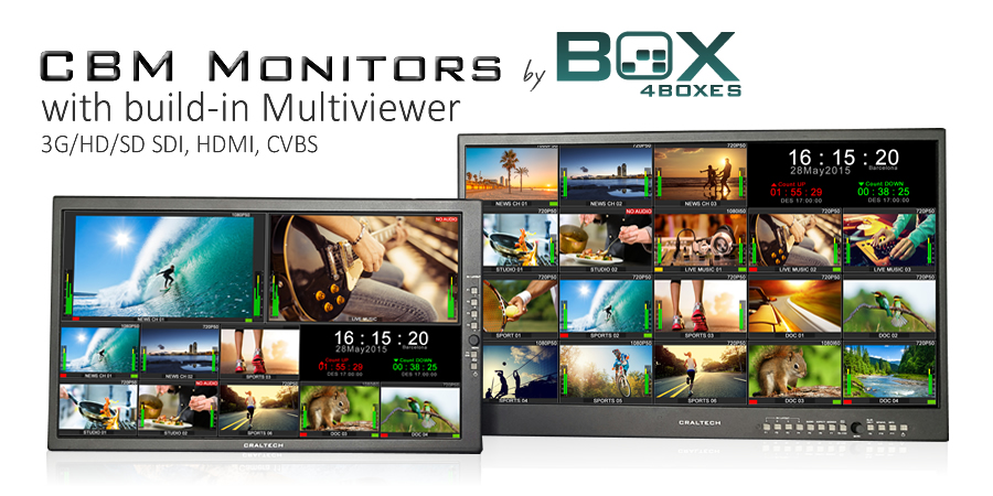 Modular Multiviewer broadcast LCD Monitors